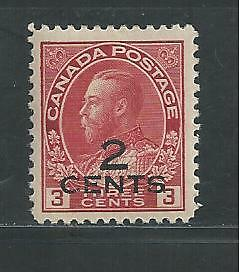 Canada # 140 Mnh King George V Surcharge Overprint