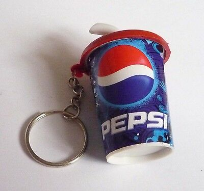 PEPSI Cola Soda Cup with Straw Limited Edition KEYCHAIN Keyring Novelty 1.5""