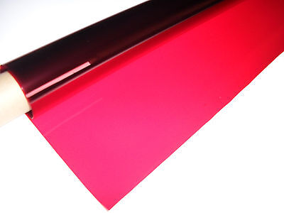 25ft X 4ft 019 FIRE RED Roll Lighting Filter Colour Effects Gel DJ Party Lights