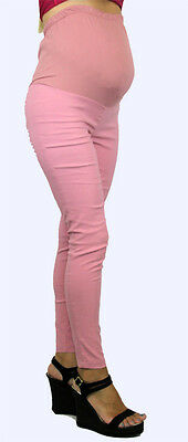Trendy Pink Maternity Skinny Pants S-M-L-XL