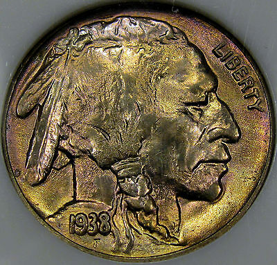 1938-D Buffalo Nickel Monster Gem BU MS++... A True BLAZER with Very Nice COLOR!