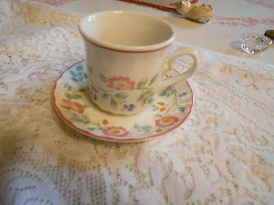Churchill Briar Rose Cup & Saucer Staffordshire England
