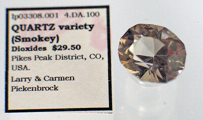 Quartz  variety (Smokey) (lp3308.001) Pikes Peak District, CO, USA.