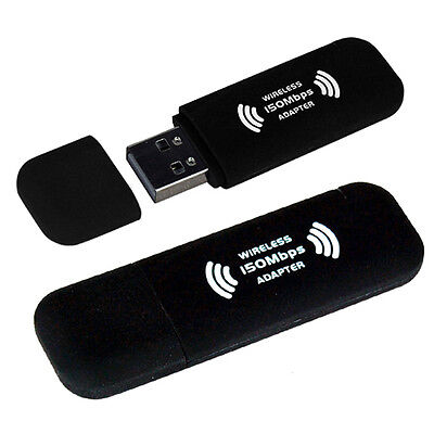 WiFi Wireless USB Adaptor Fast 150Mbps Dongle for PC Computer Laptop Windows 7