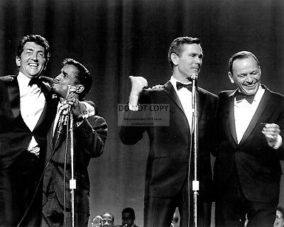CARSON WITH RAT PACK DEAN MARTIN, FRANK SINATRA, SAMMY DAVIS 8X10 PHOTO (EP-514)