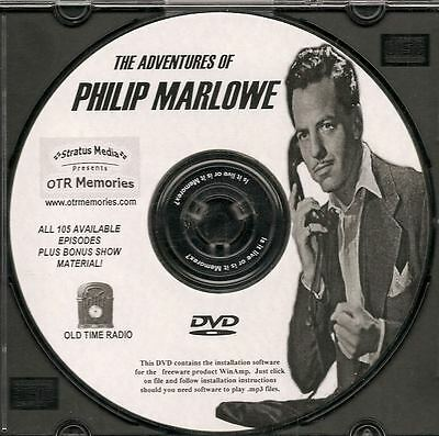 ADVENTURES OF PHILIP MARLOWE - 126 Shows Old Time Radio In MP3 Format OTR 1 DVD