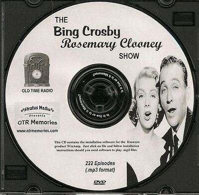 BING CROSBY ROSEMARY CLOONEY SHOW -222 Shows Old Time Radio MP3 Format OTR 1 DVD