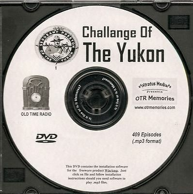 CHALLENGE OF THE YUKON - 409 Shows Old Time Radio In MP3 Format OTR On 1 DVD
