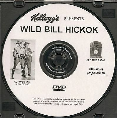 WILD BILL HICKOK - 246 Shows Old Time Radio In MP3 Format OTR On 1 DVD