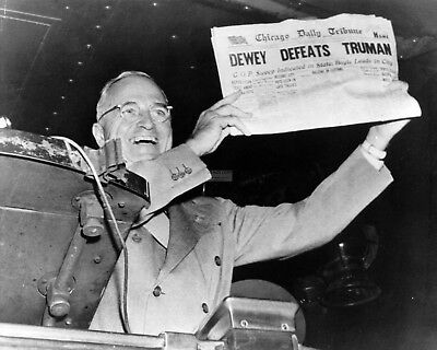 President Harry S. Truman - 'dewey Defeats Truman' - 8X10 Photo (Ep-850)