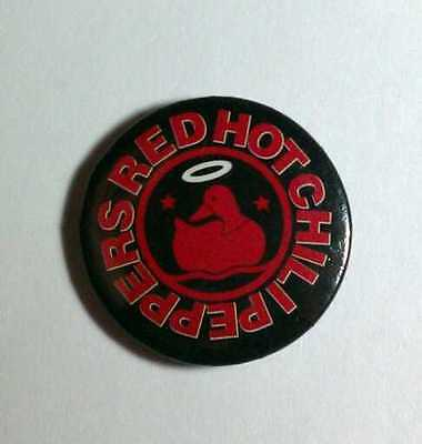 "Red Hot Chili Peppers Duck Red Black Halo Stars 1"" Music Pin Button Pinback"