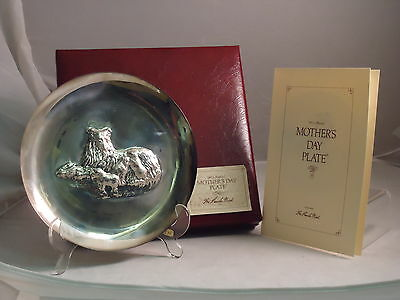 Lincoln Mint, 1972 Annual Mother's Day Plate, Sterling Silver, First Issue, New