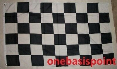 3'x5' Checkered Black and White Flag Car Racing Winner Finish Line Banner 3x5