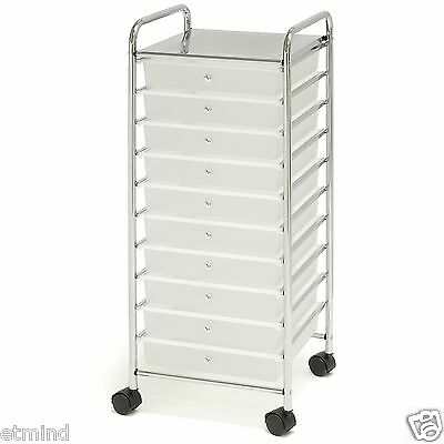 Chrome 10 Drawer Rolling Scrapbook Cart Storage 12 Quot X12