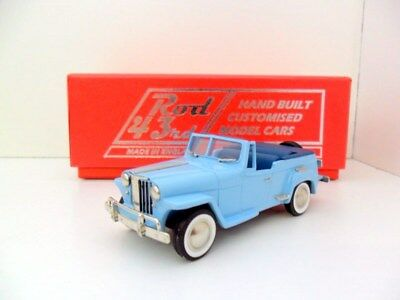 BROOKLIN 1/43 ROD27 1948 WILLYS OVERLAND JEEPSTER BLUE