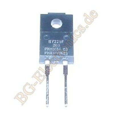 2 x BY229F-200 Ultra-fast, epitaxial rectifier diode Philips TO-220F 2pcs