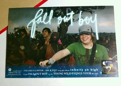 """FALL OUT BOY INFINITY ON HIGH YOUNG WILD T PHOTO 4"""" X 6"""" Sm MINI POSTER POSTCARD"""