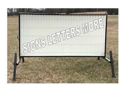 Non Lighted Outdoor Portable Marquee Roadside Sign W/letters 4'x8' New E-Con-O