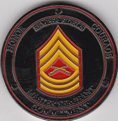 US Marine Corps Sergeant Major Challenge Coin