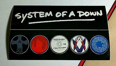 Lot Of 6Pcs System Of A Down Steal This Album Music Board Case 1 Sticker Sheet
