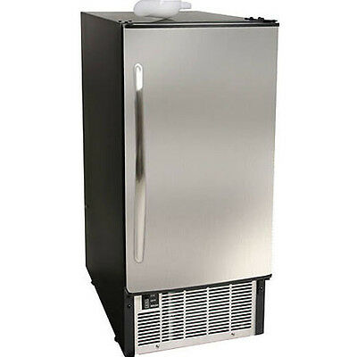 EdgeStar IB450SS UnderCounter Ice Maker, Built In 45 Lb. Stainless Steel Machine