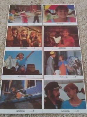 NEW ADVENTURES OF PIPPI LONGSTOCKING MOVIE POSTER LOBBY CARD SET ORIGINAL 11x14