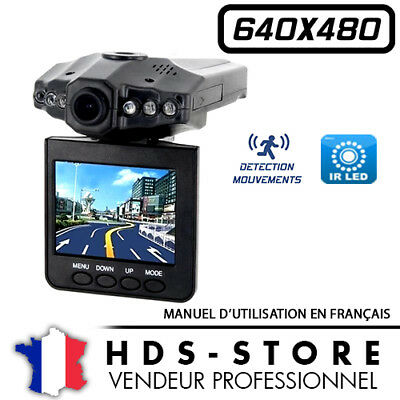 Camera Voiture Embarquée Carhddvr 640X480 6 Led Ir 32 Go Max Detection Tft 2,5""