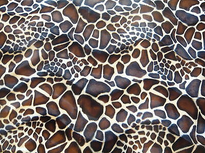Animal Print faux Fur/Velour velboa Fabric/Material - Baby Giraffe