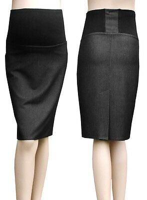 Smart Over Bump Cotton Maternity Pregnancy Skirt UK Sizes 6-18  MADE IN EU 249