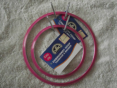 DMC  Round Plastic Embroidery Hoop - Choice of Sizes
