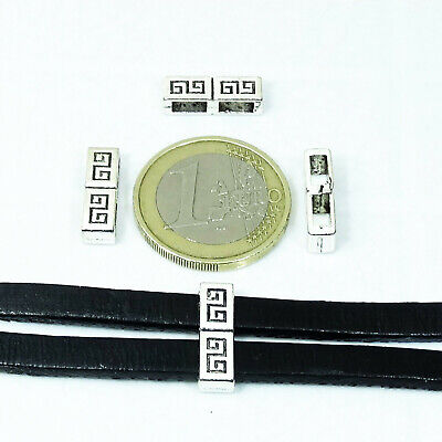 40 Separadores Hebillas Para Cordon 16mm  T193  Plata Tibetano Leather Beads