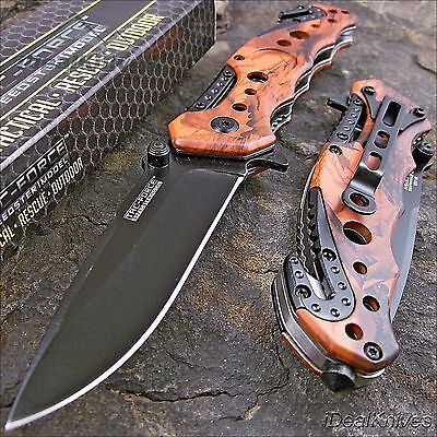 TAC FORCE Spring Assisted Opening RED CAMO Tactical Rescue Folding Pocket Knife