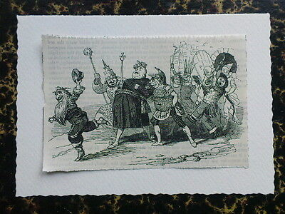 greetings card with ANTIQUE PUNCH CARTOON louis philippe king of france
