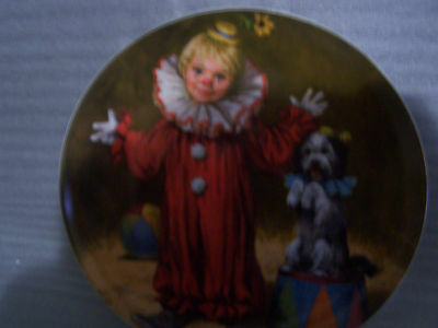 Edwin M. Knowles 'Tommy the Clown' Plate Number 16973D Bradex 84-R60-3.1
