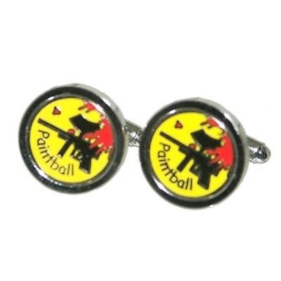 Paintball Cufflinks Player Enthusiast Sports Cruise Party Present Gift Box