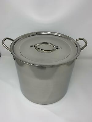 New Deep Stainless Steel Stock Soup Pot Stockpot Catering Boiling Casserole