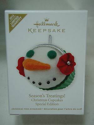 2012 Hallmark Season's Treatings Christmas Cupcakes Special Edition Limited Qty