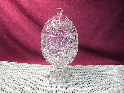 Cristal d'Arques Antique Clear Pattern Candy Dish