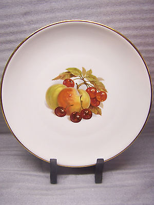 "Gorgeous, Perfect, Schmid (Germany) Gold Edged Fruit Theme 10 1/2"" Plate"
