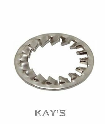 Shakeproof Lock Washers Internal Toothed Serrated Tooth A2 Stainless Steel