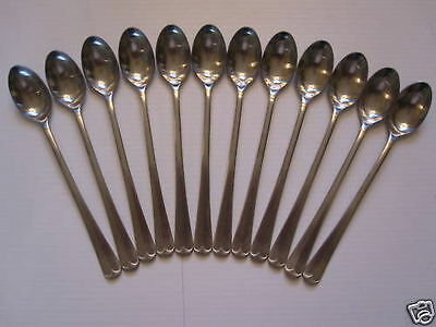 "USA SELLER  12  Old English/King Edward Iced Tea Spoons 7.5"" FREE Ship US Only"