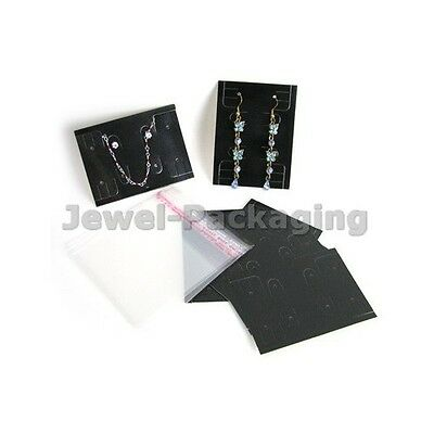 100 Jewelry Display Necklace Earring Packing Card + Bag