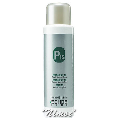 Perm P1S Natural Strong Hair 500ml Echos Line ® Permanente Capelli Naturali