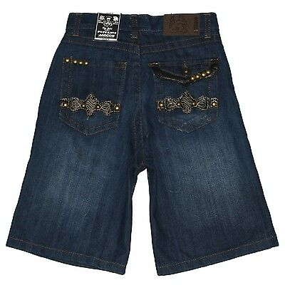 New $37 Boys MECCA Relaxed-Straight Jean Shorts Vintage Wash Denim Sizes 4 5 6