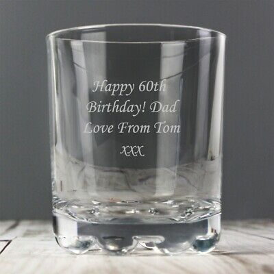 Personalised Whisky Tumbler/Glass - Perfect Anniversary Gift Laser engraved free