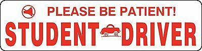 Student Teen New Driver Magnet Vehicle Car Caution Safety Signs #2