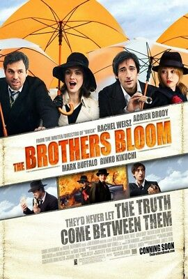 THE BROTHERS BLOOM MOVIE POSTER 2 Sided ORIGINAL 27x40 RACHEL WEISZ