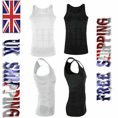 Men Tummy Slimming Control Fitted Chest Body Shaper N LIFT Slim Vest Compression