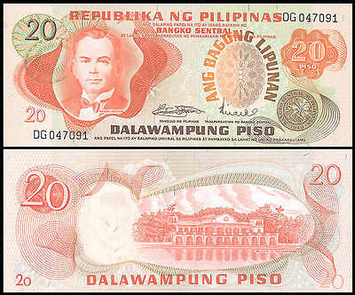 Philippines Billet 20 Piso ND 1970 P155  NEUF UNC