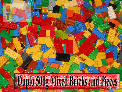 Lego Duplo 500g 1/2 kg Mixed Bricks and Pieces - All clean and genuine - bulk